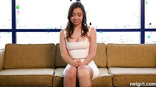 Broad-saw first-timer creampied at one's disposal 1st audition
